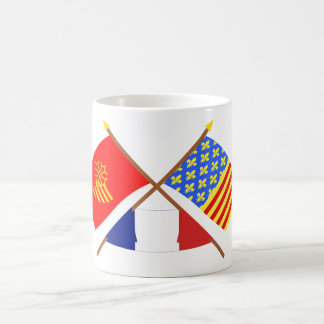 Crossed flags of Languedoc-Roussillon and Lozère Coffee Mug