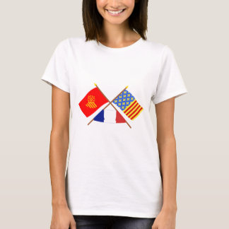 Crossed flags of Languedoc-Roussillon and Lozère T-Shirt