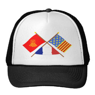 Crossed flags of Languedoc-Roussillon and Lozère Trucker Hat