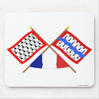 Crossed flags of Limousin and Haute-Vienne Mouse Pad