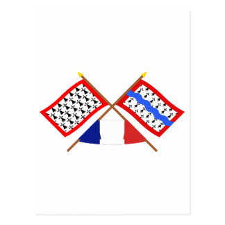 Crossed flags of Limousin and Haute-Vienne Postcard