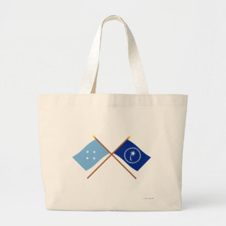Crossed Flags of Micronesia and Chuuk Tote Bags