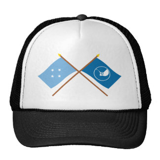 Crossed Flags of Micronesia and Yap Trucker Hat