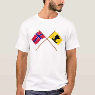 Crossed flags of Norway and Nordland T-Shirt