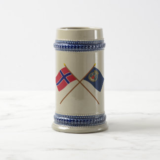 Crossed flags of Norway and Oslo Mugs