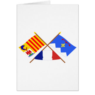 Crossed flags of PACA and Alpes-de-Haute-Provence Card