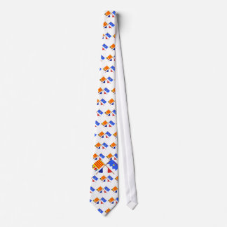 Crossed flags of PACA and Alpes-de-Haute-Provence Tie