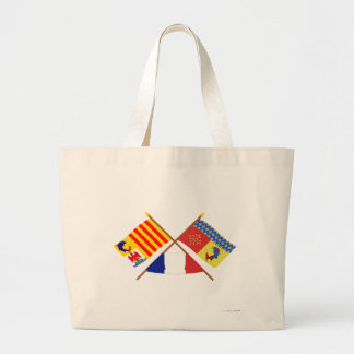Crossed flags of PACA and Hautes-Alpes Tote Bags