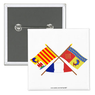 Crossed flags of PACA and Hautes-Alpes Pins