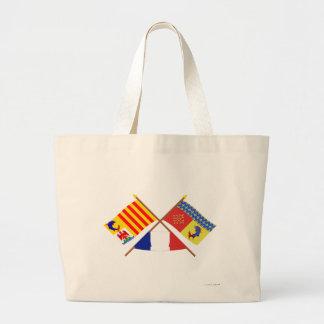 Crossed flags of PACA and Hautes-Alpes Jumbo Tote Bag