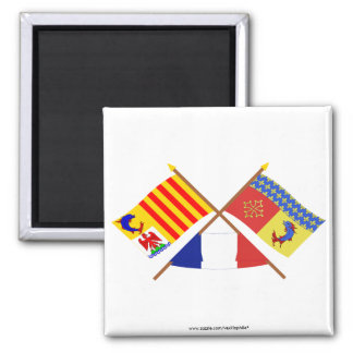 Crossed flags of PACA and Hautes-Alpes Magnet