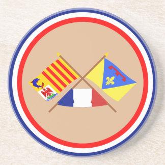 Crossed flags of PACA and Var Coasters