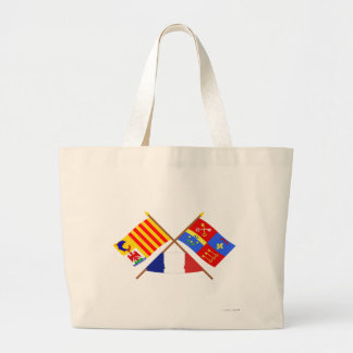 Crossed flags of PACA and Vaucluse Tote Bag