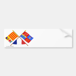 Crossed flags of PACA and Vaucluse Bumper Sticker