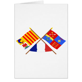 Crossed flags of PACA and Vaucluse Card