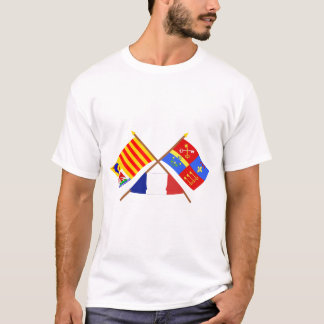 Crossed flags of PACA and Vaucluse T-Shirt