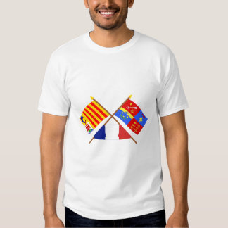 Crossed flags of PACA and Vaucluse Tee Shirts