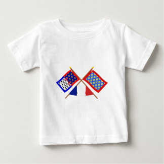 Crossed flags of Pays-de-la-Loire and Sarthe Shirts