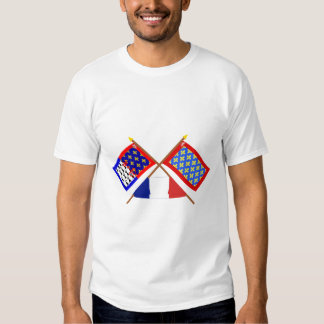 Crossed flags of Pays-de-la-Loire and Sarthe T Shirts