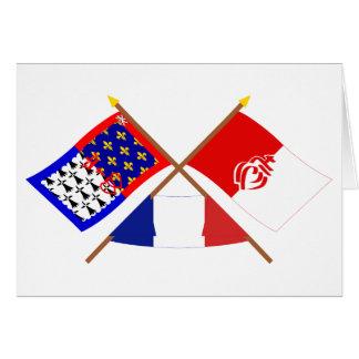 Crossed flags of Pays-de-la-Loire and Vendée Card