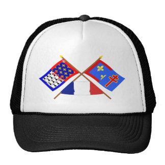 Crossed flags of Pays-de-la-Loire & Maine-et-Loire Trucker Hat