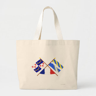 Crossed flags of Picardie and Aisne Bags