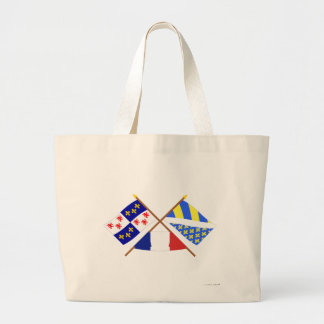 Crossed flags of Picardie and Oise Canvas Bags
