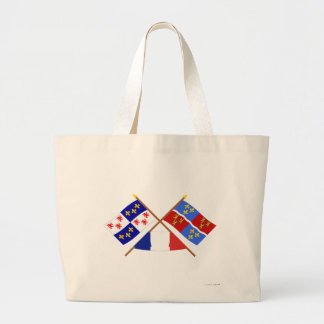 Crossed flags of Picardie and Somme Canvas Bags