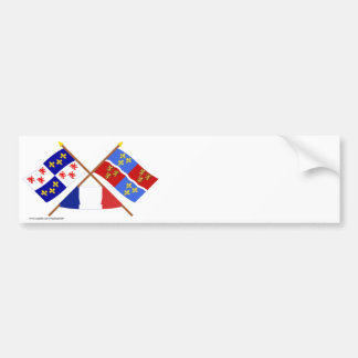 Crossed flags of Picardie and Somme Car Bumper Sticker