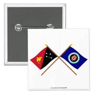 Crossed flags of PNG and Bougainville Button