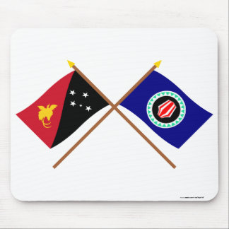 Crossed flags of PNG and Bougainville Mouse Pad