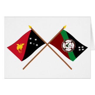 Crossed flags of PNG and East New Britain Province Card