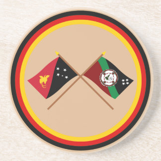 Crossed flags of PNG and East New Britain Province Coaster