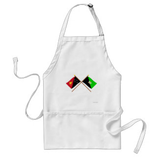 Crossed flags of PNG and Enga Province Adult Apron