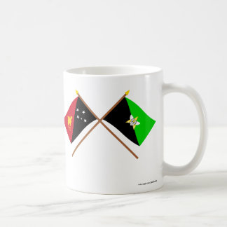 Crossed flags of PNG and Enga Province Coffee Mug