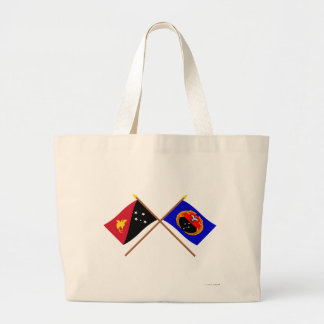 Crossed flags of PNG and Gulf Province Tote Bag