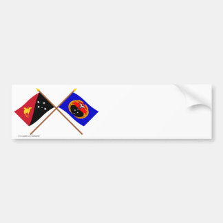 Crossed flags of PNG and Gulf Province Bumper Sticker