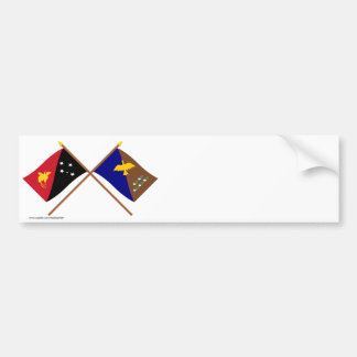 Crossed flags of PNG and Manus Province Bumper Stickers