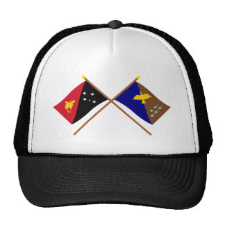 Crossed flags of PNG and Manus Province Trucker Hat
