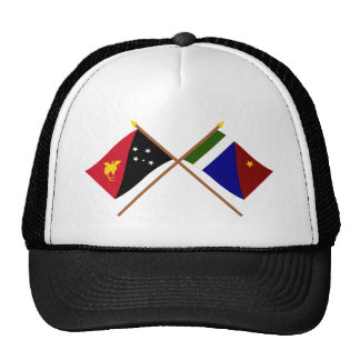 Crossed flags of PNG and Milne Bay Province Trucker Hat