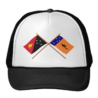 Crossed flags of PNG and New Ireland Province Hat