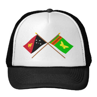 Crossed flags of PNG and Northern (Oro) Province Trucker Hat