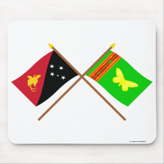 Crossed flags of PNG and Northern (Oro) Province Mouse Pad