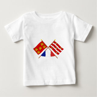 Crossed flags of Poitou-Charentes and Deux-Sèvres Baby T-Shirt