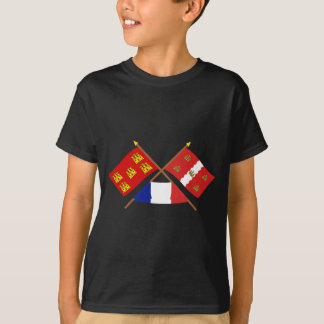 Crossed flags of Poitou-Charentes and Vienne T-Shirt