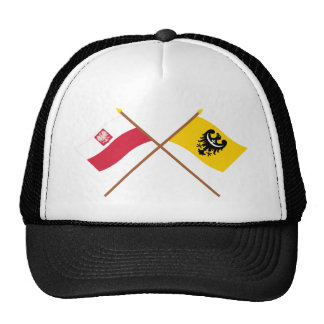 Crossed flags of Poland and Dolnośląskie Trucker Hat