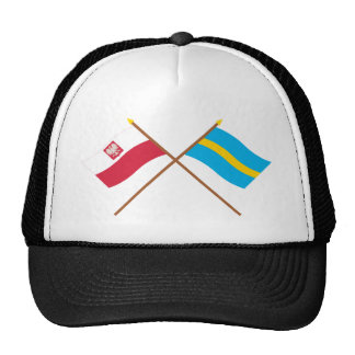 Crossed flags of Poland and Śląskie Trucker Hat