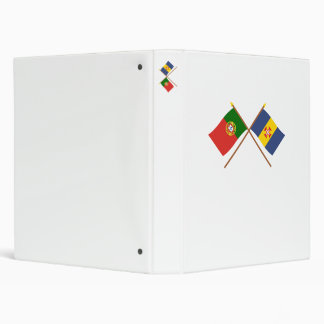 Crossed Flags of Portugal and Madeira 3 Ring Binder