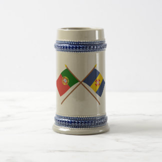 Crossed Flags of Portugal and Madeira Beer Stein