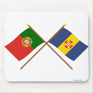 Crossed Flags of Portugal and Madeira Mouse Pad
